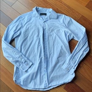INC blue button down dress shirt